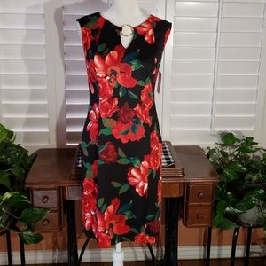 Fabulous  Floral, Enfocus studio sleeveless dress.